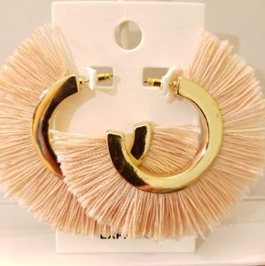Express Gold and Peach Fringe Earrings